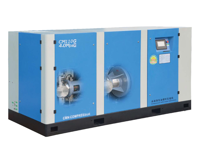 Medium preseeure oil free screw air compressor